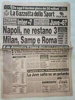 GAZZETTA DELLO SPORT 23-11-1987 COMO-EMPOLI 3-2 JUVENTUS-CESENA ROMA-INTER 3-2