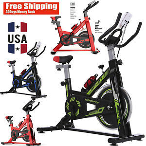 Stationary Indoor Bicycle Adjustable Mute Exercise Bike Fitness Cycling Home Gym