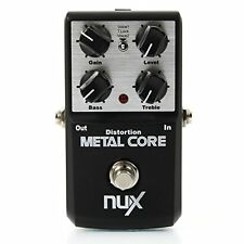NuX Metal Core Metal Distortion Effect Pedal Tone Lock Preset Function Bypass