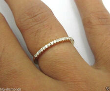 Diamond Ring Eternity Half Band 18k Yellow Gold Beautiful Stunning 1mm Diamond