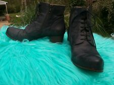 Gidigio Ankle Boot - Black Soft Leather  -Size 39 Italy US 8.5