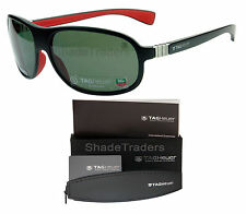 TAG HEUER LEGEND SUNGLASSES BLACK RED PURE PRECISION POLARIZED GREY 9301 102 64