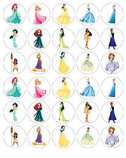 Principessa Disney wafer Commestibile Cupcake Fata Torta Topper Decorazioni X 30