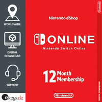 Nintendo Switch Online 12 months Family membership Invite | until March 2022