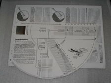 Cartridge Alignment Protractor Justierschablone Record PlayerGerman Instructions