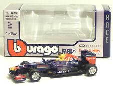 Bburago 59111 RED BULL RB9 DC M.Webber-S.Vettel +  METAL Scala 1:64