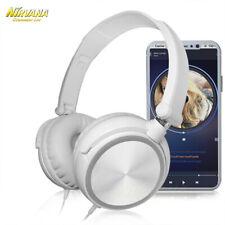 Hifi бас наушники гарнитура с микрофоном 3.5 мм проводной над ухо стерео наушники Складные