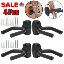 4Pcs Guitar Hangers Hook Holder Wall Mount Display Instrument Acoustic Electric