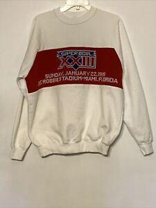Vintage 1989 Super Bowl XXIII Sweatshirt XL SF 49ers Cincinnati Bengals