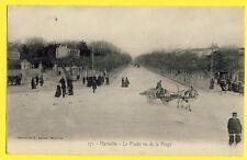 cpa MARSEILLE (Bouches du Rhône) Le PRADO vu de la PLAGE Attelage Tonneaux