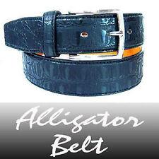 New Leather Black Alligator Belt / Crocodile Belt - L