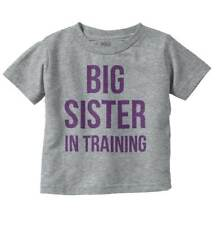 Big Sister In Training Older Cute Daughter Girls Toddler T Shirt Tees Tshirts