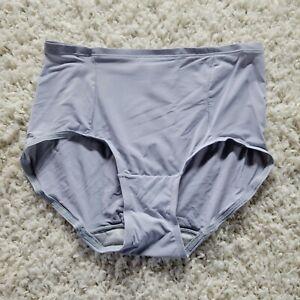 Hanes Tagless Briefs High Rise Size 5 Preshrunk Soft Cotton Panties Purple