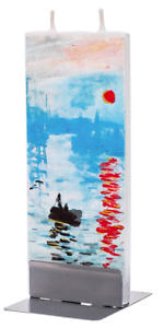 Flatyz Fine Art Flat Candle Monet Rising Sun