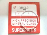 Quality Watch Glass Mineral Crystal Face Flat Round 3mm Thick, Ø 24mm to 50mm