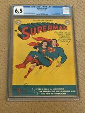 Superman 57 CGC 6.5 w Rare White Pages (1st Lois Lane Superwoman- 1949) + magnet