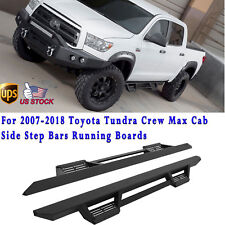 2PCS RT Running Boards For 07-18 Toyota Tundra Extended Crew Cab Side Step Bars