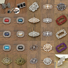 Crystal Shoe Charms Jibbitz Clip Bridal Shoes Decor Rhinestone Shining Removable