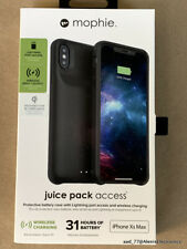 NEW MOPHIE JUICE PACK ACCESS BATTERY CASE FOR iPHONE Xs MAX COLOR: BLACK Qi