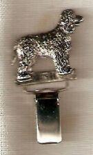 Irish Water Spaniel Nickel Silver Ring Clip Pin Jewelry*