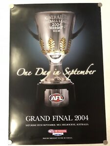 RARE ORIGINAL 2004 AFL GRAND FINAL POSTER - PORT ADELAIDE POWER PREMIERS