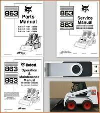 Bobcat 863 H High Flow Skid Steer Loader Service Parts Operation Manual Lot Usb