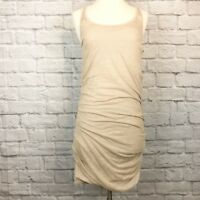 Clu Ruched Bodycon Dress Gold Metallic Sz XS 146.224