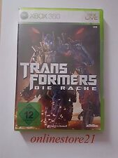 Los Transformers venganza Microsoft Xbox 360 nuevo New completamente en alemán