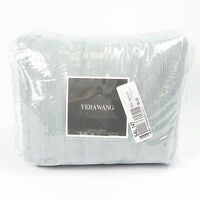 Vera Wang Corrugated Texture Collection KING Duvet Cover Bedding $570 BLUE B3003