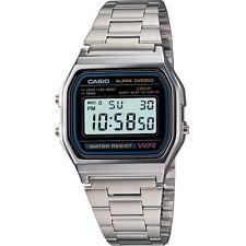 CASIO A158WA-1DF,Uhr,Silber,Illuminator,digital retro vintage,Casio Collection