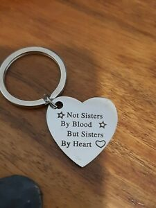 BRAND NEW  Not Sisters by Blood but Sisters by Heart Keyring Sister Key Ring