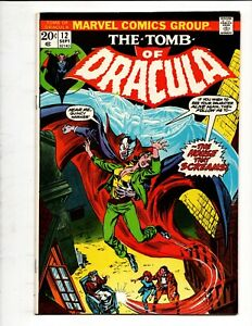 TOMB of DRACULA # 12 MARVEL COMICS September 1973 BLADE 2nd APPEARANCE KEY ISSUE