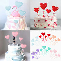 4pc Red Purple Love balloon Cake Topper for Party Decoration Dessert lovely G_ft