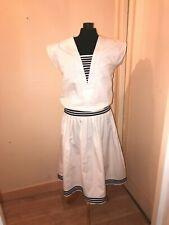 Robe vintage René DERHY en coton style marin