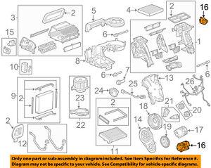 GM OEM Evaporator Heater-Actuator 92215208