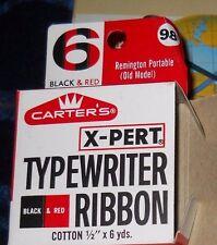 Carter's X-Pert Typewriter Ribbon #6 BLACK & Red Remington Portable(old model)