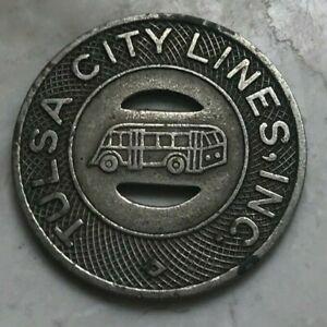 Tulsa Oklahoma OK Tulsa City Lines Transportation Token