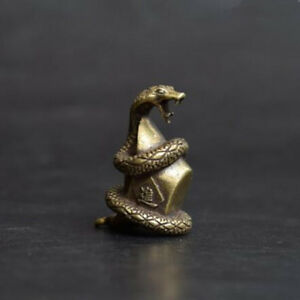 China's archaize brass Wealth snake Small statue