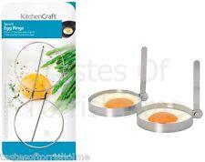 Kitchen Craft 4 (2 juegos) Acero Inoxidable Redondo Huevo Frito freír