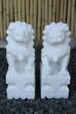 Tempellöwen Fu Dogs Marble 30cm Garden Decoration Figure China asienlifestyle