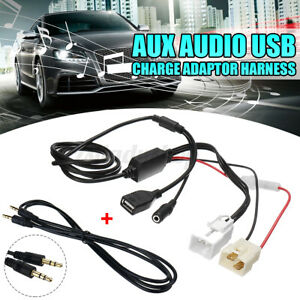 3.5mm AUX Audio USB Charge Adapter Harness For Ford Falcon Territory BA BF SX