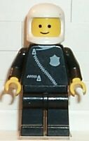 LEGO Minifigure - COP003 - Police - Zipper with Badge, Black Legs, White Classic