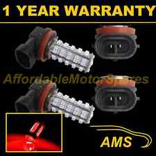 2X H11 RED 60 LED FRONT FOG SPOT LAMP LIGHT BULBS HIGH POWER KIT XENON FF500701