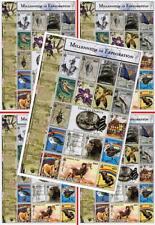 👉🏻 $$ wholesale $$ MONGOLIA 2000 MILLENNIUM / DARWIN x5 M/S MNH ANIMALS, BIRDS