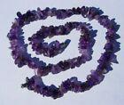 Genuine Amethyst crystal chip bead necklace 18