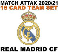 Match Attax Champions League 2020/21 REAL MADRID 18 card team set