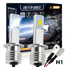2x H1 LED ATV UTV Motorrad Scheinwerfer Birnen CSP Chip Lampe 100W 6000K 3000LM