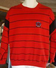 "ROBERT BRUCE Men's Small L/S Red ""MARINA"" Pullover Sweatshirt"