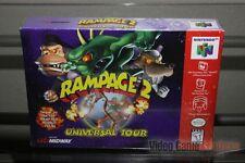 Rampage 2: Universal Tour (Nintendo 64, N64 1999) FACTORY SEALED! - RARE!