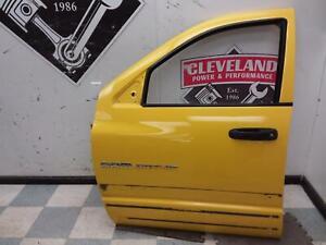 2005-2006 RAM SRT-10 Viper Truck OEM LH Left Driver Front Door- Yellow, Quad Cab